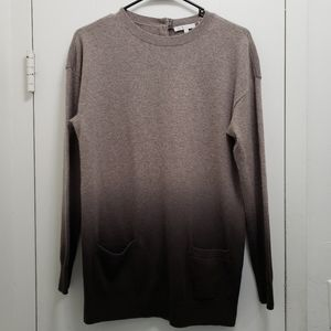 Vince Ombre Cashmere Sweater Tunic Dress Size XS